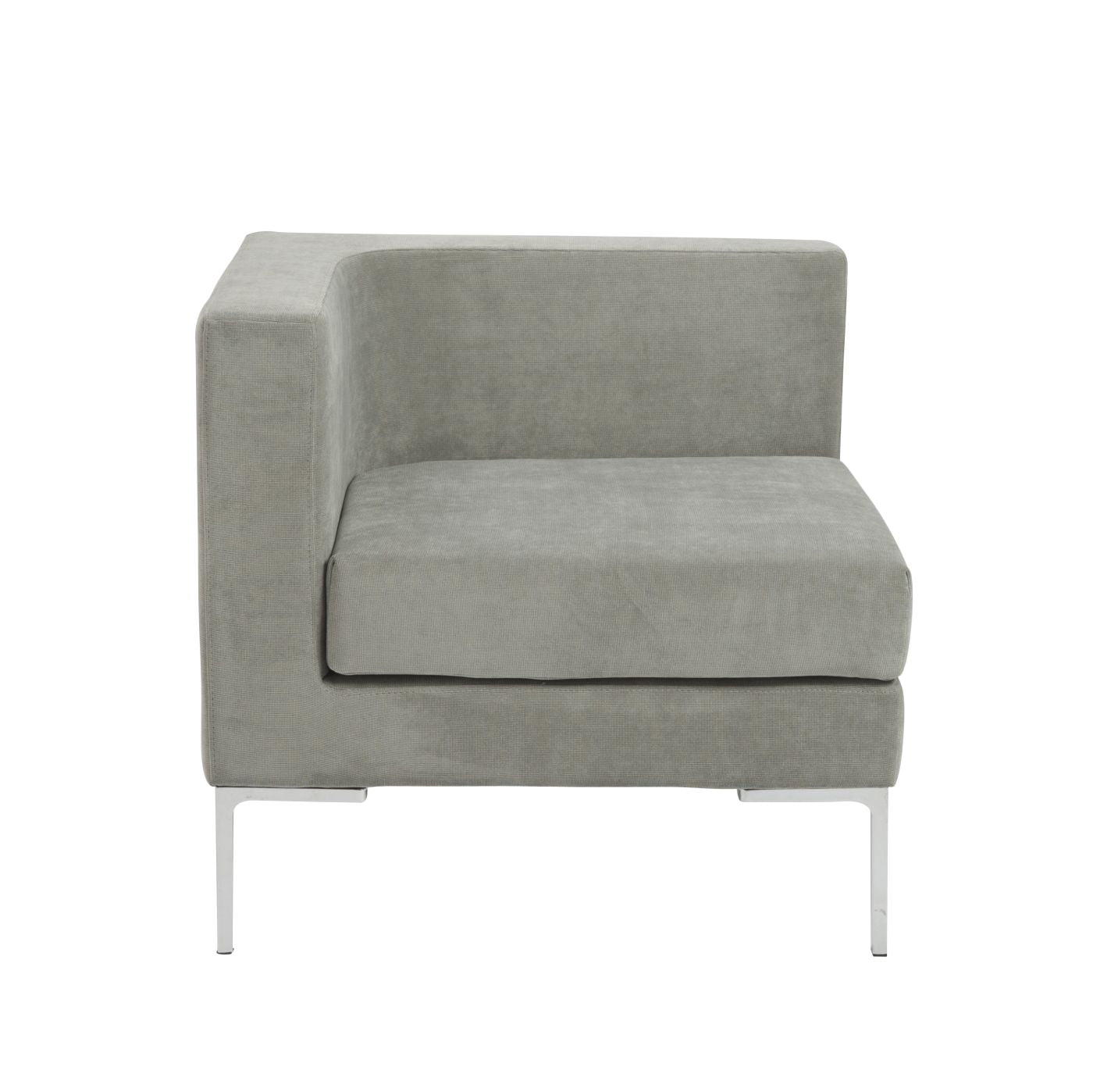 Euro style vittorio sofa with arm rests in gray euro for Sofa with only one arm