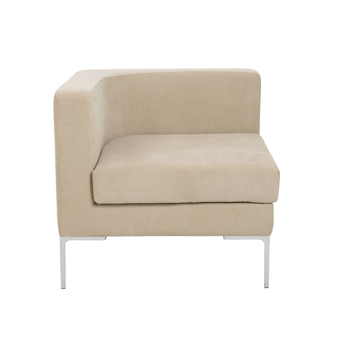 Euro style vittorio sofa with arm rests in tan euro for Sofa with only one arm