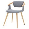 Darwin Fabric Bamboo Chair Stokes Gray