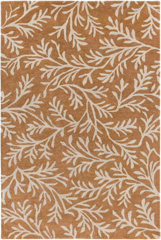 Brilliance Floral And Paisley Area Rug Orange Neutral