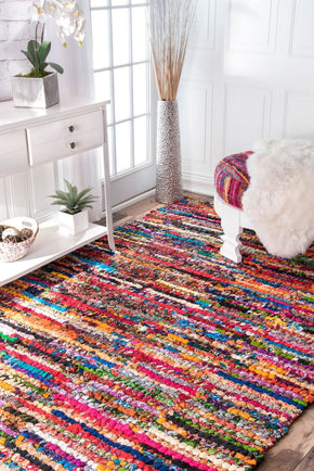 Nuloom Braided Chindi Cotton Michiko Area Rug
