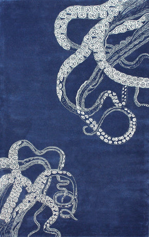 Nuloom Hand Tufted Octopus Tail Navy Rug