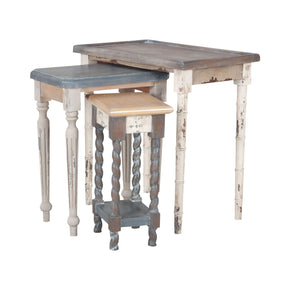 Artifacts Nesting Tables In Multi Stain Collage Finish Multicolor Table