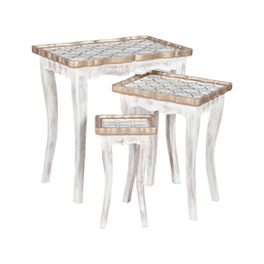 Saber Nesting Tables In Front Porch White Table