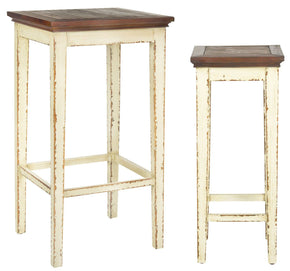 Lynne Nesting Tables White W/ Brown Top Table