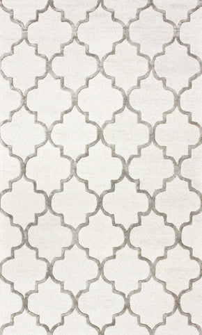 Nuloom Hand Tufted Park Avenue Trellis Nickel Rug