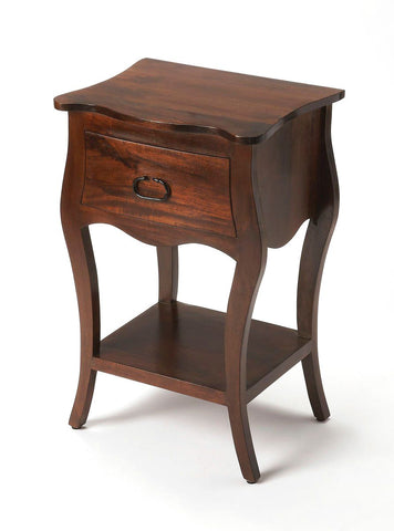Rochelle Transitional Rectangular Nightstand Dark Brown