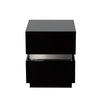 Elle 2-Drawer Accent Table in High Gloss Black