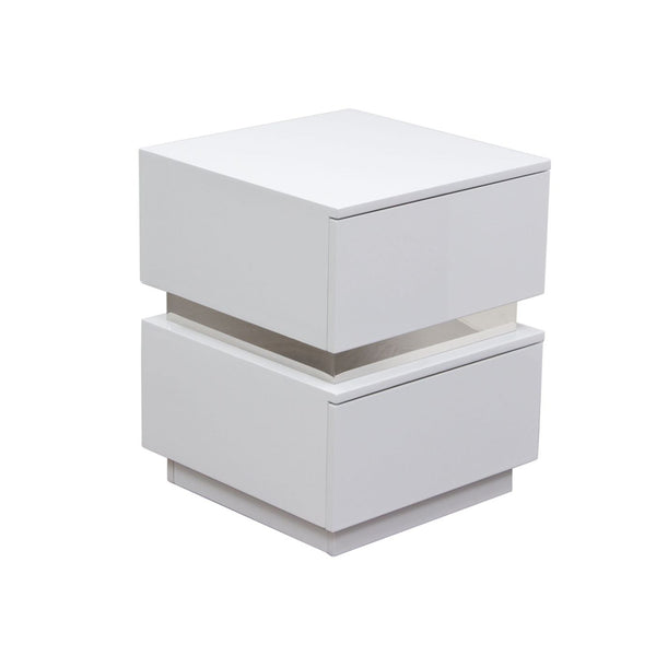 Buy Diamond Sofa Ellenswh Elle 2 Drawer Accent Table In