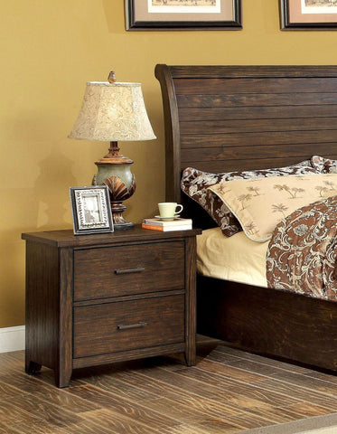 Tearson Transitional 2-Drawer Nightstand In Espresso