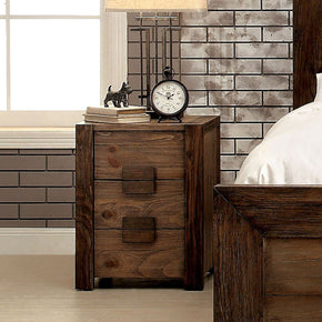 Braddy Transitional 3-Drawer Nightstand In Natural