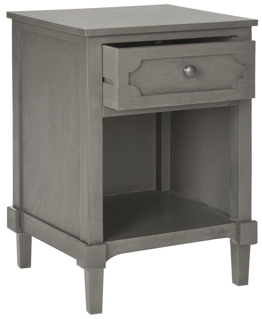 Rosaleen Storage Side Table Grey Nightstand ...
