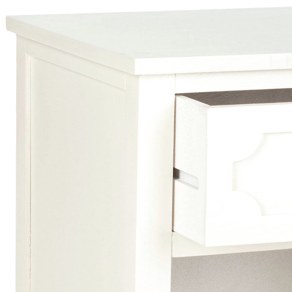 Rosaleen Storage Side Table White Nightstand