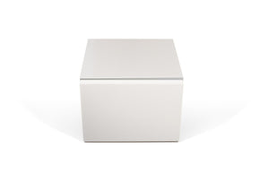 Float Night Stand W/ 1 Drawer Pure White Nightstand