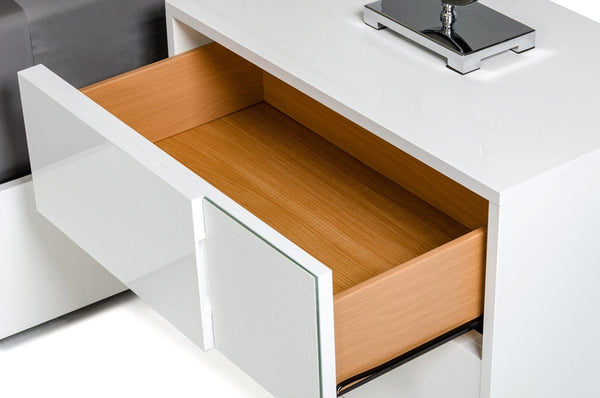 Vig Furniture VGACMONZA-NS Modrest Monza Italian Modern White Nightstand  sale at Contemporary Furniture Warehouse. Today only.