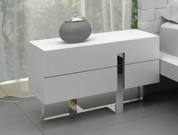 Vig Furniture VGCN1302H-P01 Modrest Voco - Modern White Bedroom Nightstand  sale at Contemporary Furniture Warehouse. Today only.