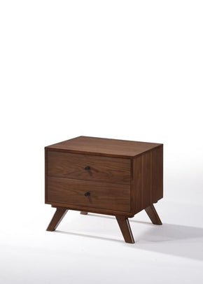 Modrest Addison Mid-Century Modern Walnut Nightstand