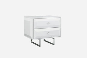 Abrazo Night Stand High Gloss White Nightstand