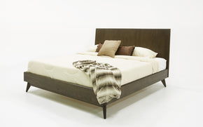 Vig Furniture VGLBNANT-BED Modrest Novak Modern Dark Oak Bed
