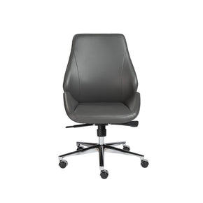 Office Chairs - Euro Style EURO-00470GRY Bergen Armless Low Back Office Chair in Gray with Chromed Aluminum Base | 727511951811 | Only $398.98. Buy today at http://www.contemporaryfurniturewarehouse.com