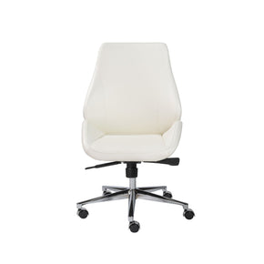 Office Chairs - Euro Style EURO-00470WHT Bergen Armless Low Back Office Chair in White with Chromed Aluminum Base | 727511951804 | Only $398.98. Buy today at http://www.contemporaryfurniturewarehouse.com
