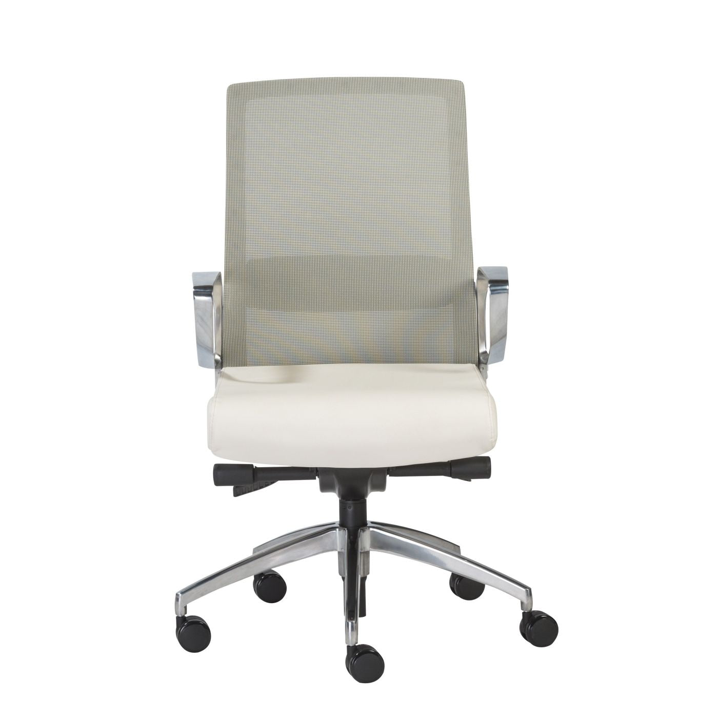 Buy Euro Style Euro 00522wht Alpha Low Back Office Chair With White Mesh And Polished Aluminum Base At Contemporary Furniture Warehouse