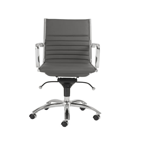 Office Chairs - Euro Style EURO-00674GRY Dirk Low Back Office Chair in Gray with Chromed Steel Base | 727511921135 | Only $391.98. Buy today at http://www.contemporaryfurniturewarehouse.com