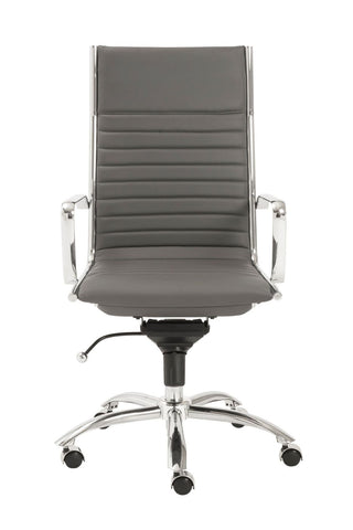Office Chairs - Euro Style EURO-00675GRY Dirk High Back Office Chair in Gray with Chromed Steel Base | 727511921692 | Only $416.98. Buy today at http://www.contemporaryfurniturewarehouse.com