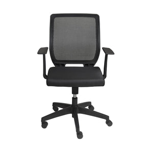 Osmond Low Back Office Chair In Black With Base