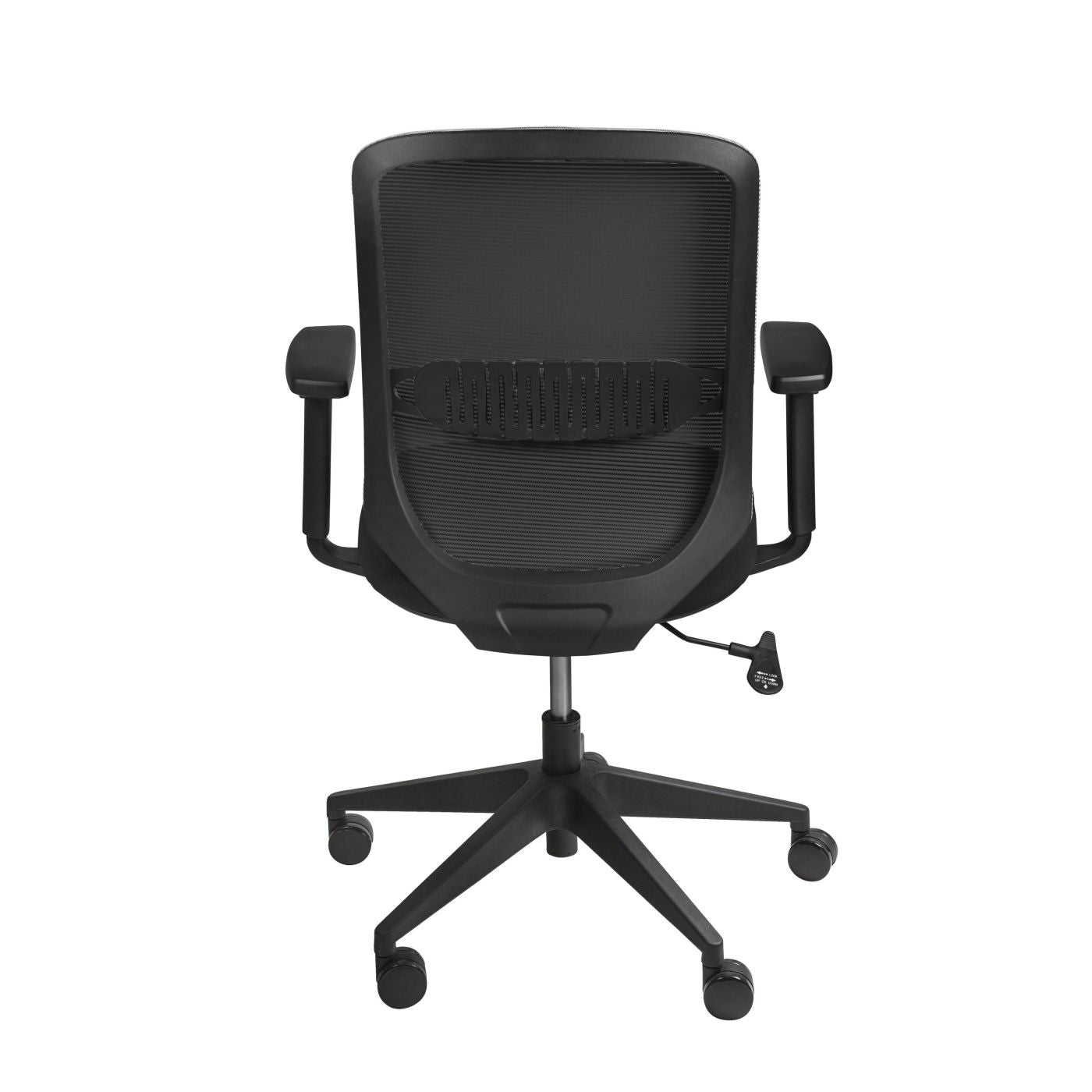 ... Isaac Low Back Office Chair In Black With Nylon Base