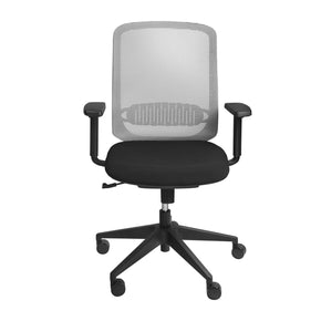 Isaac Low Back Office Chair In Gray With Black Nylon Base