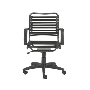 fun office chairs. Bungie Flat Mid Back Office Chair In Black With Graphite Frame And Base Fun Chairs