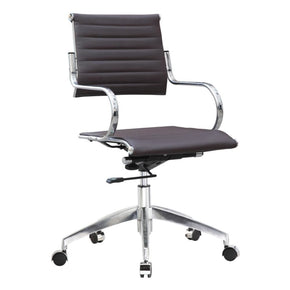 Flees Office Chair Mid Back Dark Brown