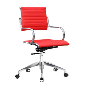 Flees Office Chair Mid Back Red