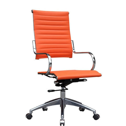 Flees Office Chair High Back Orange