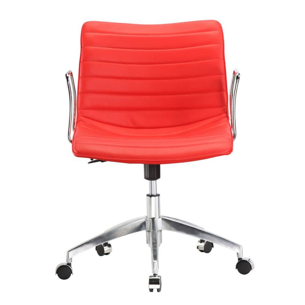 Comfy Office Chair Mid Back Red