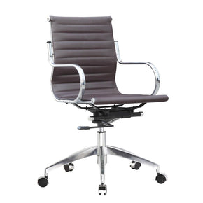Twist Office Chair Mid Back Dark Brown