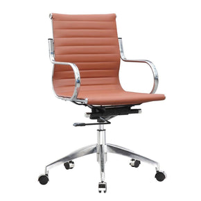 Twist Office Chair Mid Back Light Brown