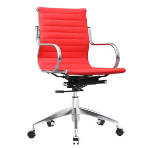 Twist Office Chair Mid Back Red