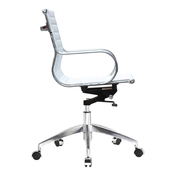 Twist Office Chair Mid Back White