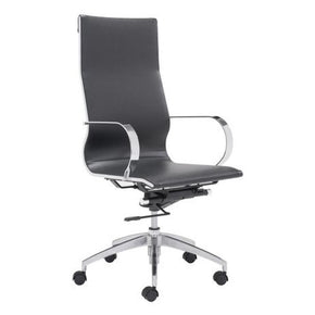 Modern Conference Office Chair High Back Black