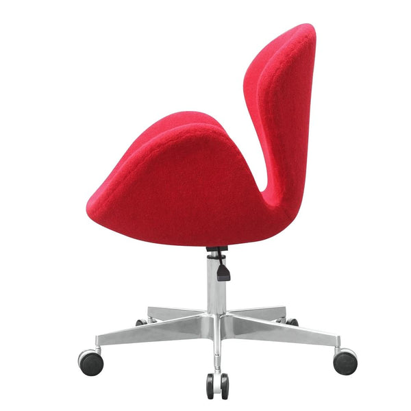 Swan Chair Fabric With Casters Red Office