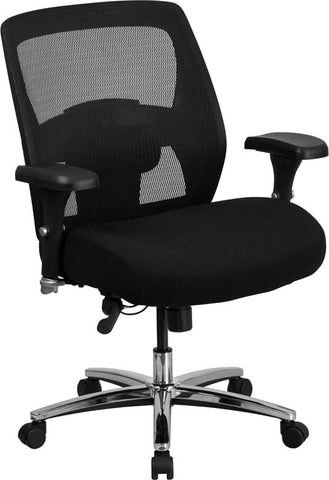 Series 24/7 Multi-Shift Big & Tall 500 Lb. Capacity Black Mesh Multi-Functional Executive Swivel Chair With Ratchet Back Office