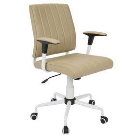 Cache Office Chair White Cashmere Pu