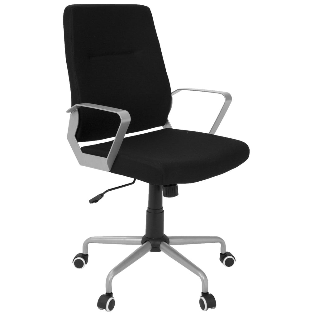 Zip Office Chair Grey, Black Fabric