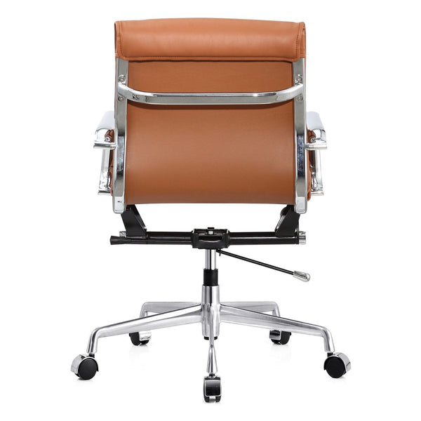 Office Chair In Brown Vegan Leather