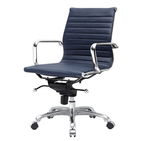 Office Chairs - Meelano 344-NVY Modern Office Chair In Blue | 035127435268 | Only $199.80. Buy today at http://www.contemporaryfurniturewarehouse.com