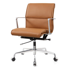 Office Chairs - Meelano 347-BRN Office Chair In Brown Italian Leather | 035127436036 | Only $407.50. Buy today at http://www.contemporaryfurniturewarehouse.com