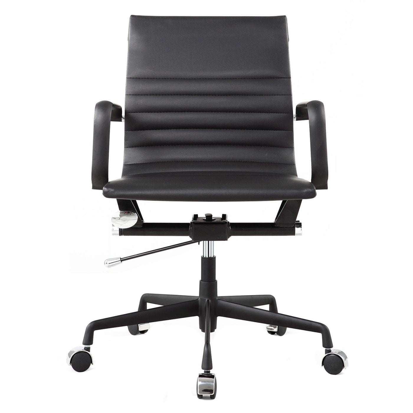 modern office chair leather. Modern Office Chair In All Black Vegan Leather