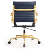 Office Chair In Gold And Navy Vegan Leather